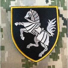 Нарукавний знак 1 окрема танкова Сіверська бригада (чорний)