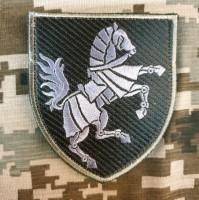 Нарукавний знак 1 окрема танкова Сіверська бригада (олива) Кінь вправо