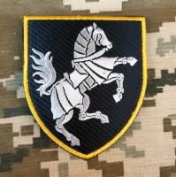 Нарукавний знак 1 окрема танкова Сіверська бригада (чорний) Кінь вправо