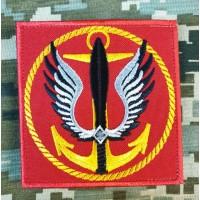 Нарукавний знак Морська Піхота України червоний (квадратний)
