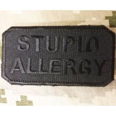Нашивка Stupid Allergy Black