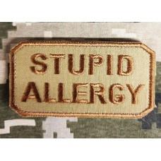 Нашивка Stupid Allergy Coyote