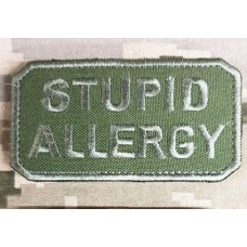 Нашивка Stupid Allergy Olive