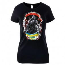 Футболка Козацькі Звитяги (жіноча чорна)