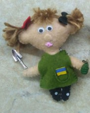 Купить М'яка іграшка Мене образити може кожен Не кожен може утекти (Червоно-чорні бантики) в интернет-магазине Каптерка в Киеве и Украине