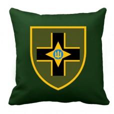 Декоративна подушка 28 ОМБр ім. Лицарів Зимового Походу (олива)