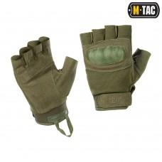 "Тактичні рукавички M-TAC ASSAULT TACTICAL MK.3 OLIVE ""без пальців"""