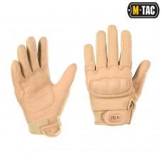 Тактичні рукавички з захистом M-TAC ASSAULT TACTICAL MK.5 KHAKI