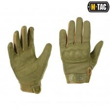 Тактичні рукавички з захистом M-TAC ASSAULT TACTICAL MK.5 OLIVE