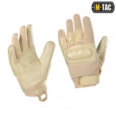 Тактичні рукавички M-TAC ASSAULT TACTICAL MK.4 KHAKI (шкіра)