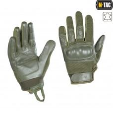 Тактичні рукавички M-TAC ASSAULT TACTICAL MK.4 OLIVE (шкіра)