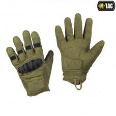 Тактичні рукавички з захистом M-TAC ASSAULT TACTICAL MK.6 OLIVE