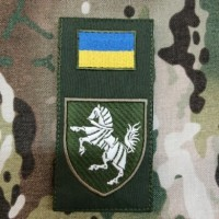 Нарукавна заглушка 1 окрема танкова Сіверська бригада (олива)