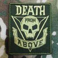 Патч Death From Above з кф Зоряний десант Starship Troopers (олива)