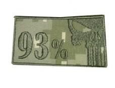 Шеврон 93% Каратель камуфляж укрпіксель вишивка олива