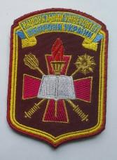 Шеврон Національний Університет Оборони України малиновий