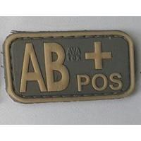 Нашивка группа крови AB+ pos резина coyot