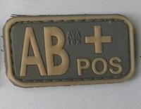 Нашивка група крові AB+ pos резина coyot
