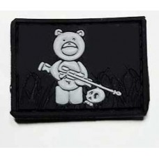 "Нашивка ""Мишка снайпер"" Teddy Bear PVC черный-серый"