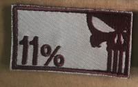Нашивка 11% - Punisher Patch Койот