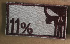 Нашивка 11% - Punisher Patch Койот