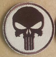 Нашивка Череп - Punisher Patch вышивка Койот