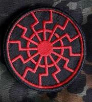 Нашивка Черное Солнце вишивка (червоно-чорна)
