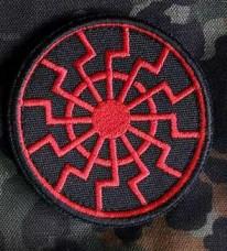 Нашивка Чорне Сонце вишивка (червоно-чорна)