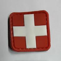 Красный Крест резиновый патч с липучкой