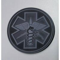 Нашивка PARAMEDIC ПВХ (резина) черный