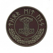 Thor Mit Uns резиновый шеврон Brown