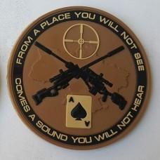 Нашивка Ukrainian sniper ПВХ Coyote
