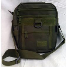 Тактическая сумка, наплечная Silver Knight OLIVE с креплением для фиксации пистолета
