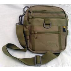 Тактическая сумка, наплечная Silver Knight COYOTE с креплением для фиксации пистолета
