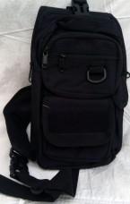 Сумка-рюкзак тактический однолямочный, с отделением под пистолет Silver Knight BLACK