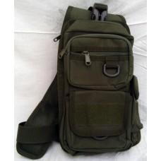 Сумка-рюкзак тактический однолямочный, с отделением под пистолет Silver Knight OLIVE