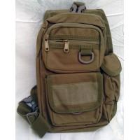Сумка-рюкзак тактический  однолямочный, с отделением под пистолет Silver Knight COYOTE