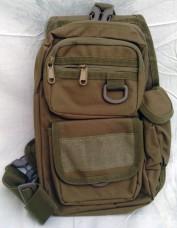 Сумка-рюкзак тактичний  однолямочний  Silver Knight COYOTE