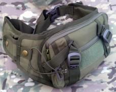 Тактическая сумка, поясная с отделом для пистолета Silver Knight OLIVE