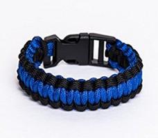 Купить Thin Blue Line Ukraine паракордовый браслет с широкой полосой в интернет-магазине Каптерка в Киеве и Украине