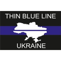 Прапор Thin Blue Line Ukraine (карта Украіни) #ThinBlueLineUkraine #ТонкаСиняЛінія