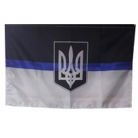 Флаг Thin Blue Line Ukraine (герб Украины)