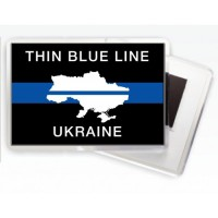 Магнітик Thin Blue Line Ukraine (карта) #ThinBlueLineUkraine #ТонкаСиняЛінія