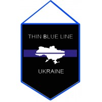 Thin Blue Line Ukraine вымпел (з картою)