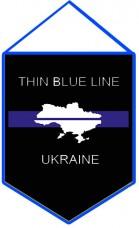 Вимпел Thin Blue Line Ukraine (з картою) #ThinBlueLineUkraine #ТонкаСиняЛінія