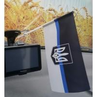 Автомобильний прапорець Thin Blue Line Ukraine (тризуб)