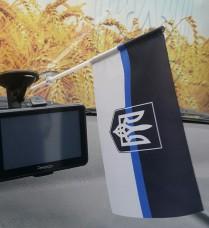 Автомобильный флажок Thin Blue Line Ukraine (тризуб)