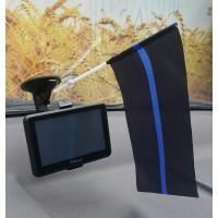 Автомобильний прапорець Thin Blue Line #ThinBlueLineUkraine #ТонкаСиняЛінія