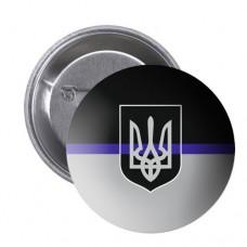 Значок Thin Blue Line Ukraine #ThinBlueLineUkraine #ТонкаСиняЛінія