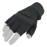 Перчатки безпалые Kevlar Nomex Armored Claw черные